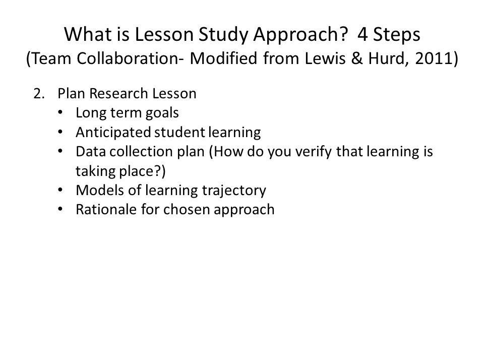 What is Lesson Study Approach