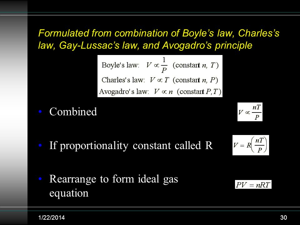 If proportionality constant called R