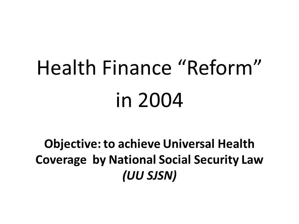 Health Finance Reform