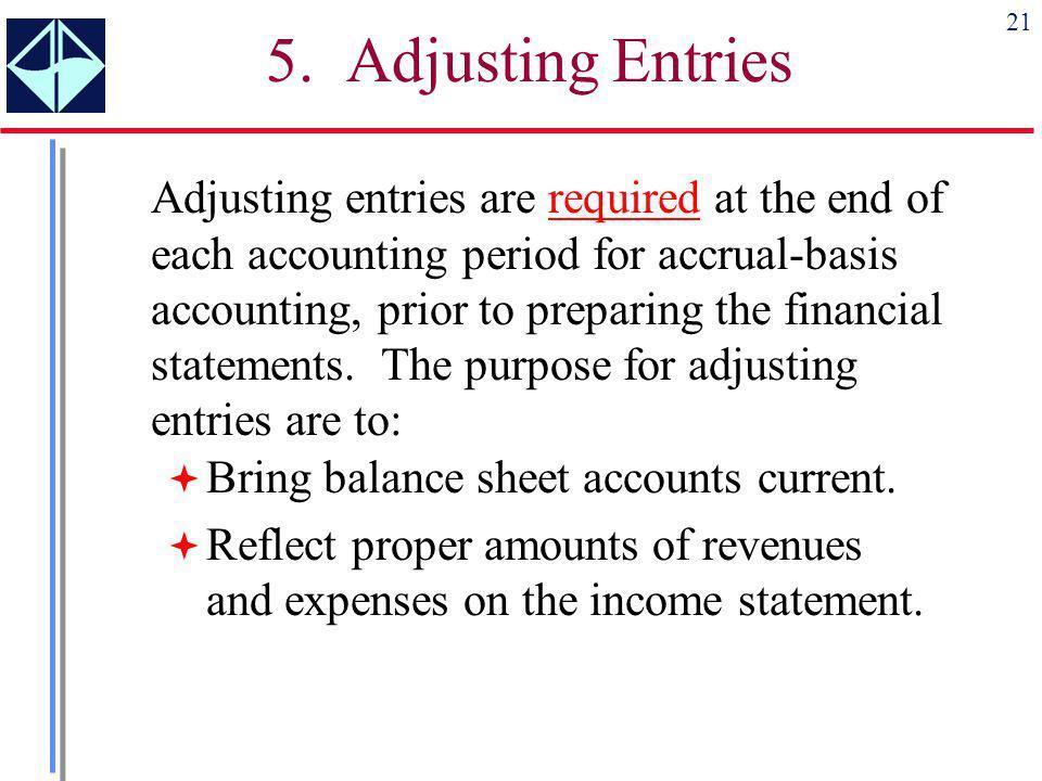 5. Adjusting Entries