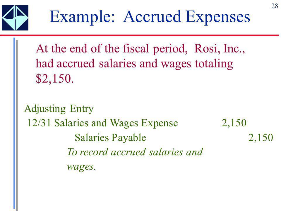Example: Accrued Expenses