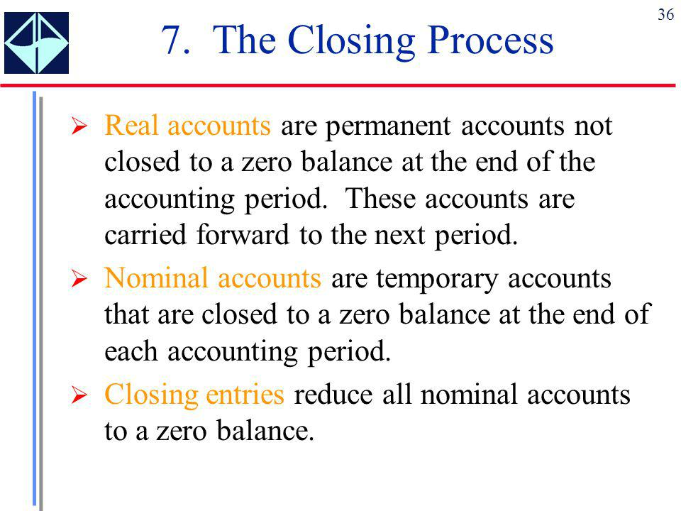 7. The Closing Process