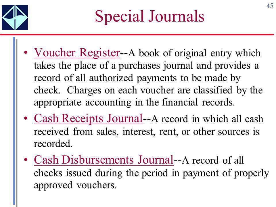 Special Journals