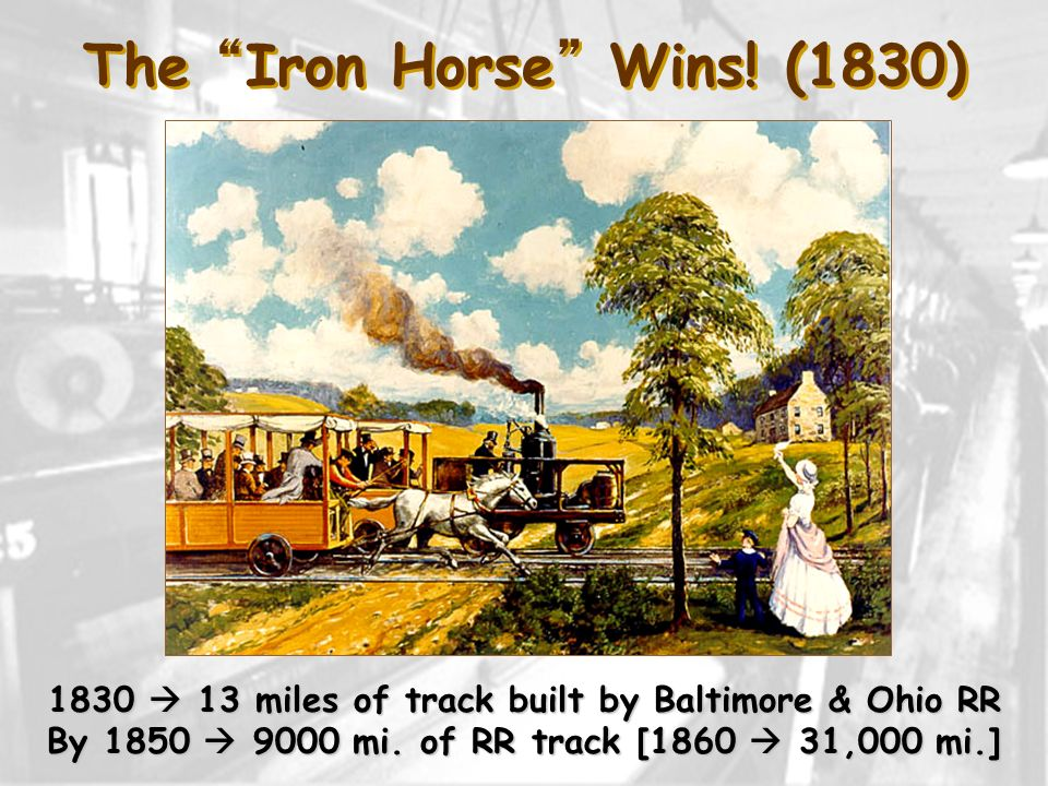 The Iron Horse Wins! (1830)