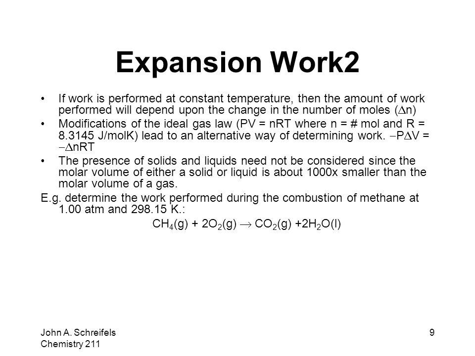 CH4(g) + 2O2(g)  CO2(g) +2H2O(l)