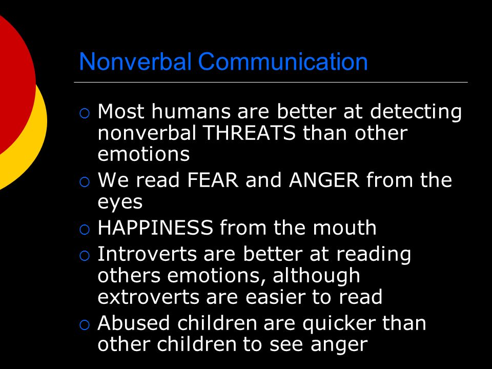 Nonverbal Communication