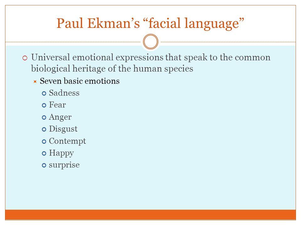 Paul Ekman's facial language
