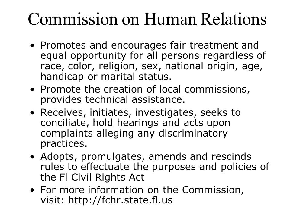 Commission on Human Relations