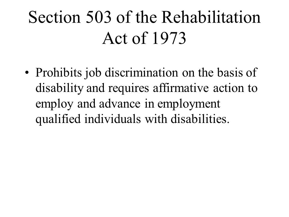 Section 503 of the Rehabilitation Act of 1973