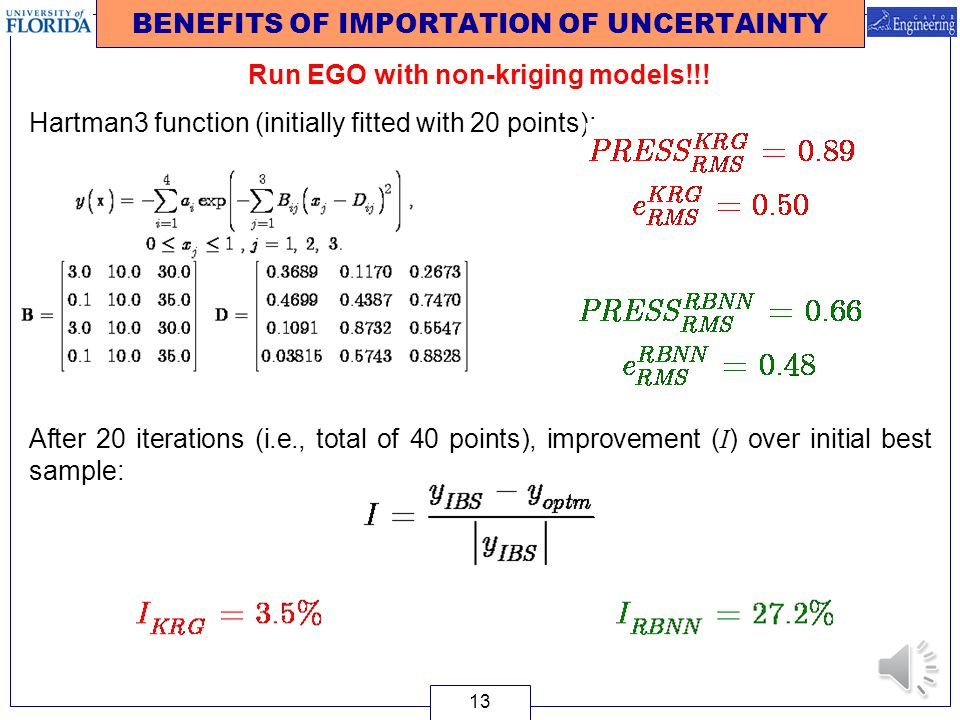 BENEFITS OF IMPORTATION OF UNCERTAINTY