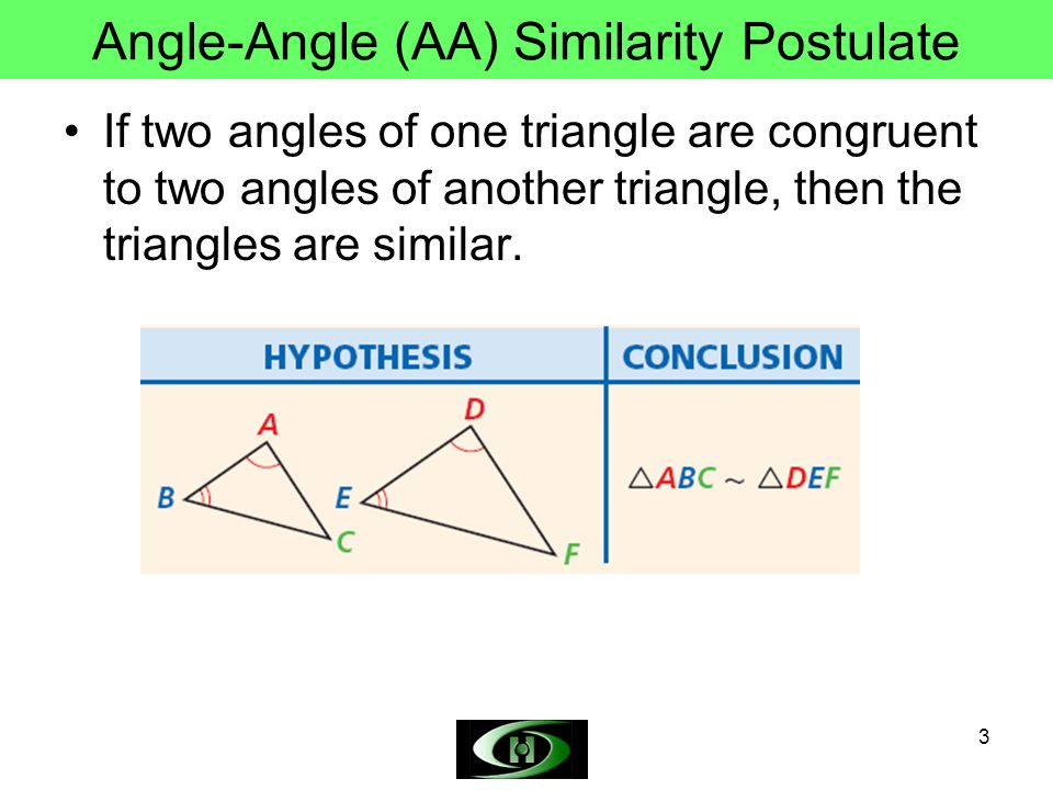 Angle-Angle (AA) Similarity Postulate