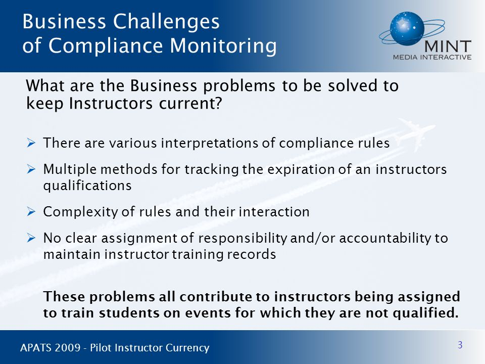 Business Challenges of Compliance Monitoring