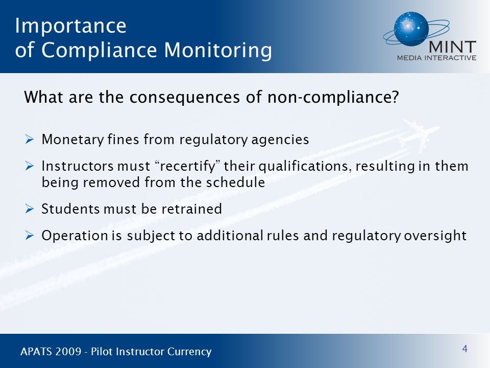 Importance of Compliance Monitoring