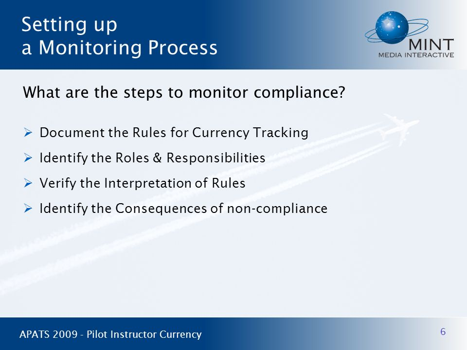 Setting up a Monitoring Process