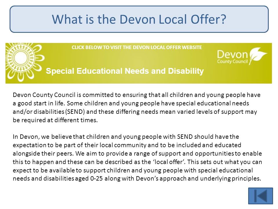 What is the Devon Local Offer