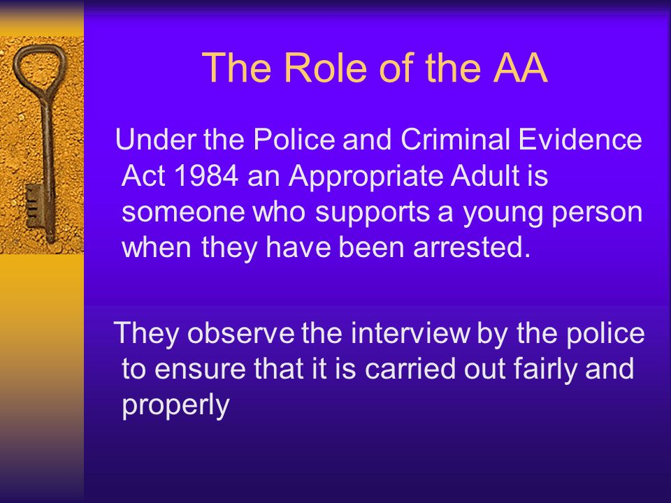 The Role of the AA