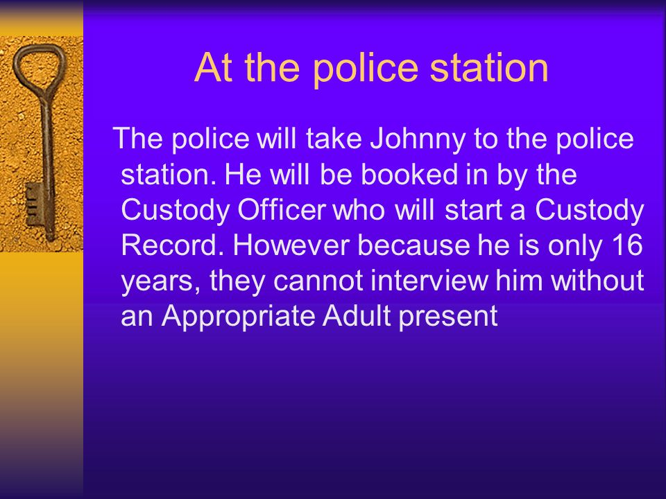 At the police station