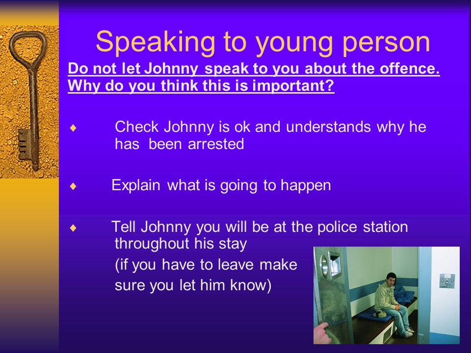Speaking to young person