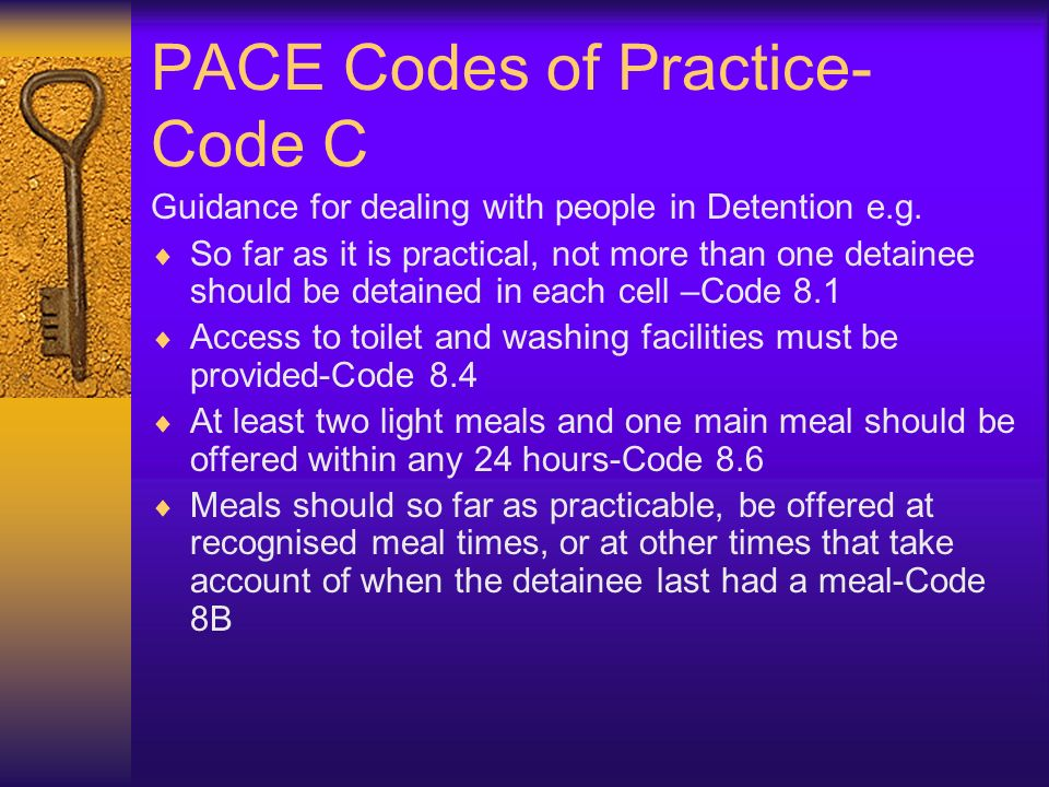 PACE Codes of Practice-Code C