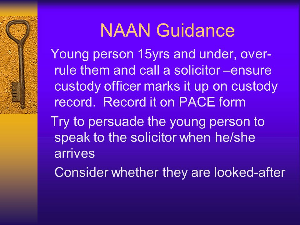 NAAN Guidance