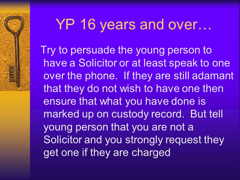 YP 16 years and over…