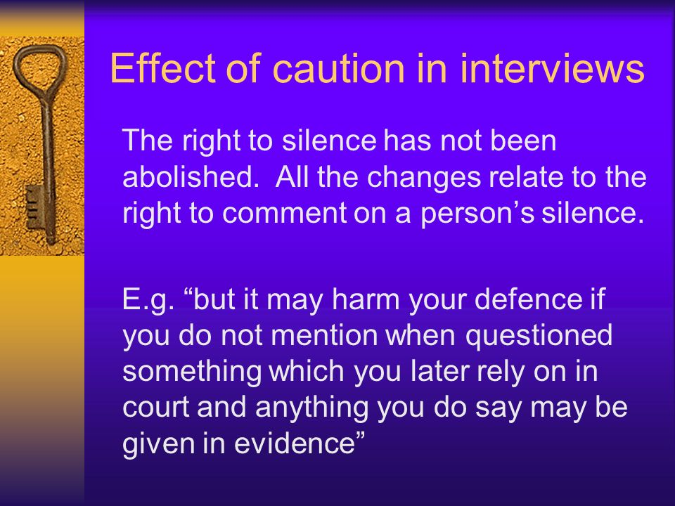 Effect of caution in interviews