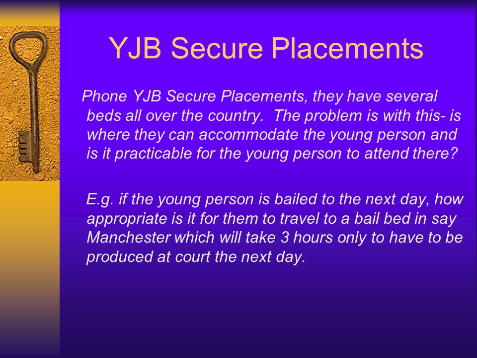 YJB Secure Placements