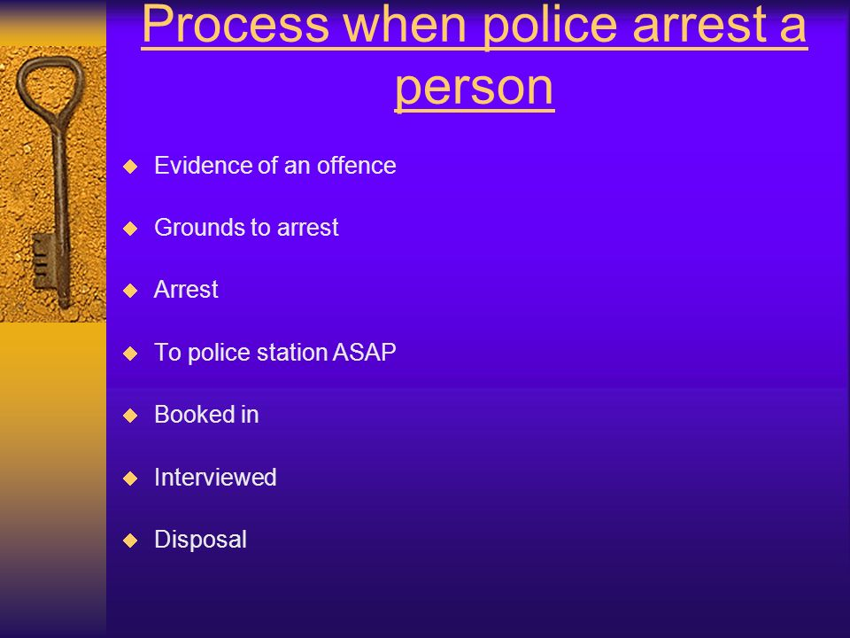 Process when police arrest a person