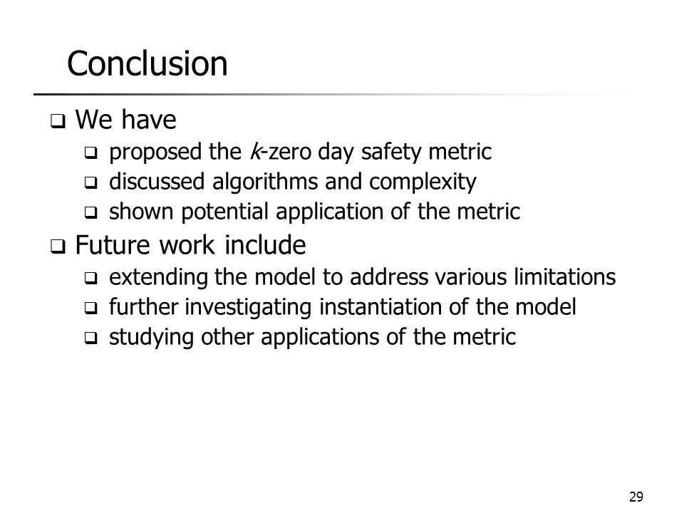 Conclusion We have We can unfold k based on the model