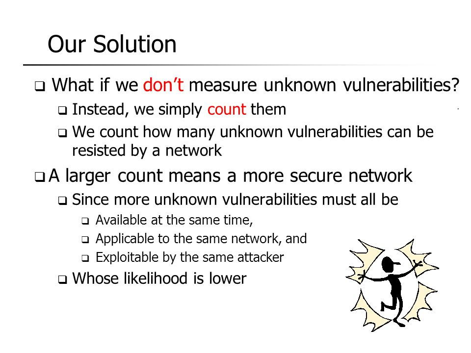 The Curse on Security Metric Our Solution