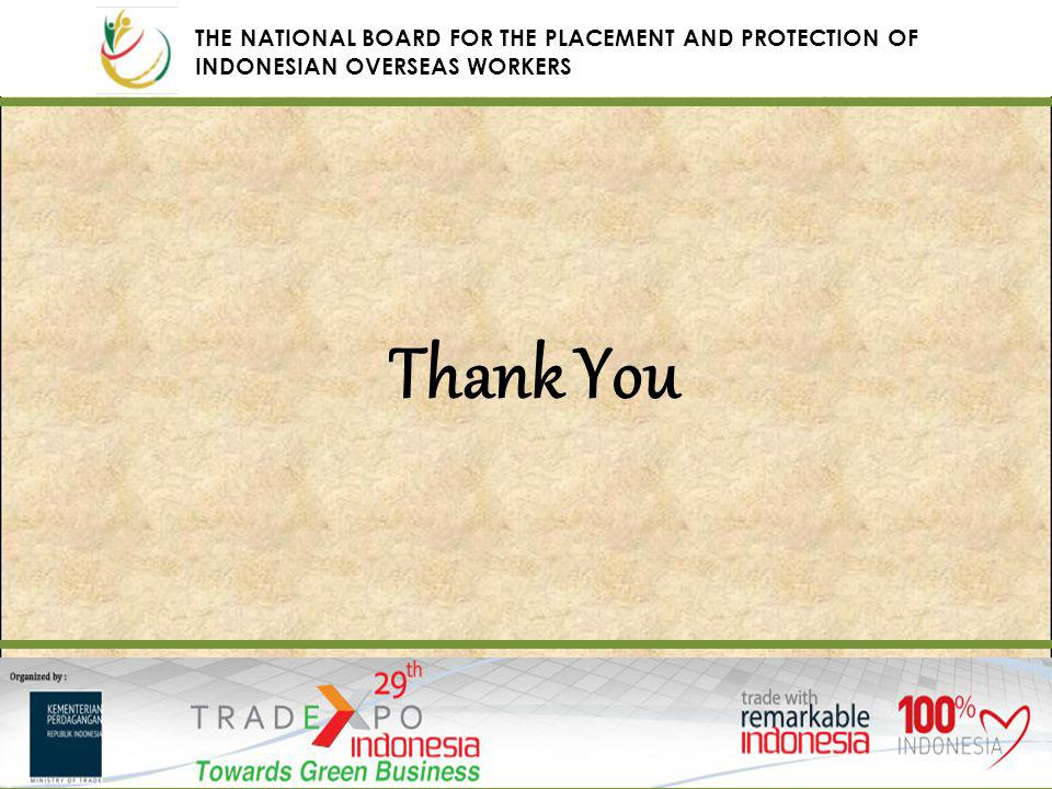 Thank You THE NATIONAL BOARD FOR THE PLACEMENT AND PROTECTION OF