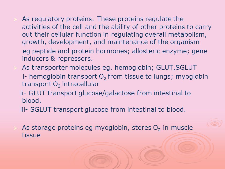 As regulatory proteins