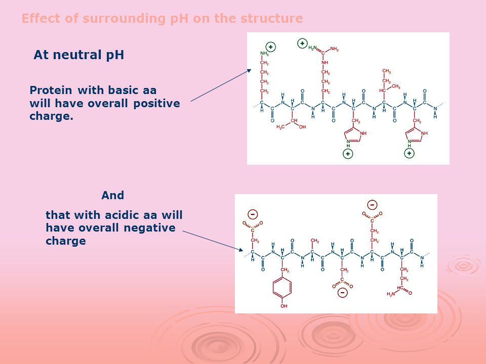 Effect of surrounding pH on the structure