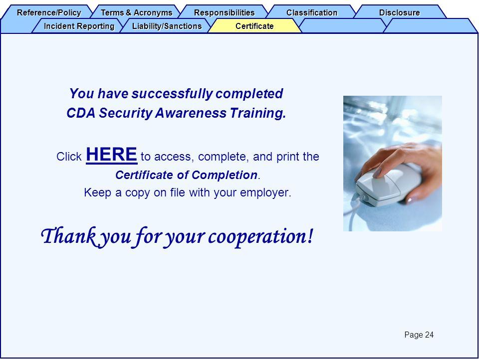 cda security awareness training 12 Easy Rules Of Cda