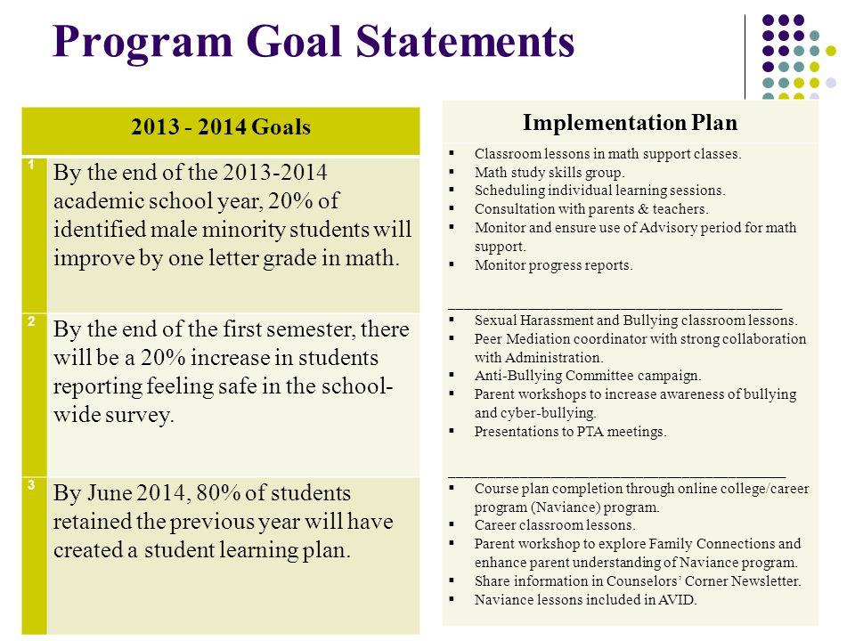 Program Goal Statements