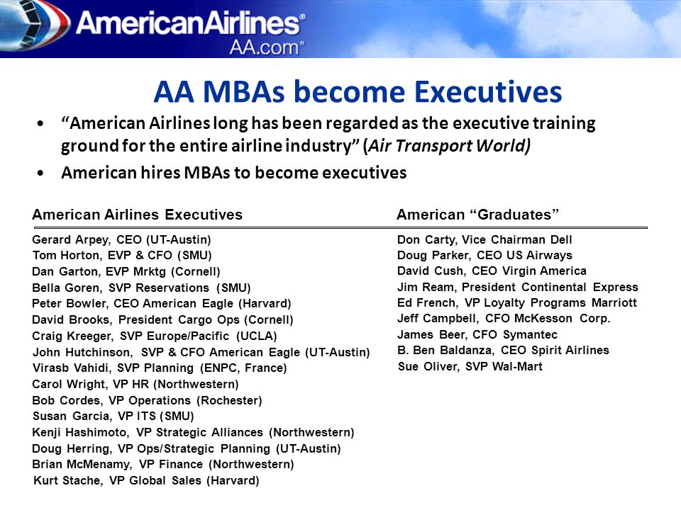 AA MBAs become Executives