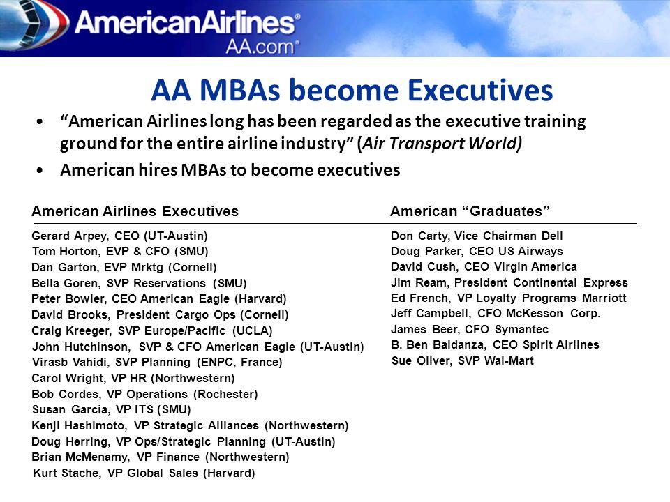 AA MBAs become Executives