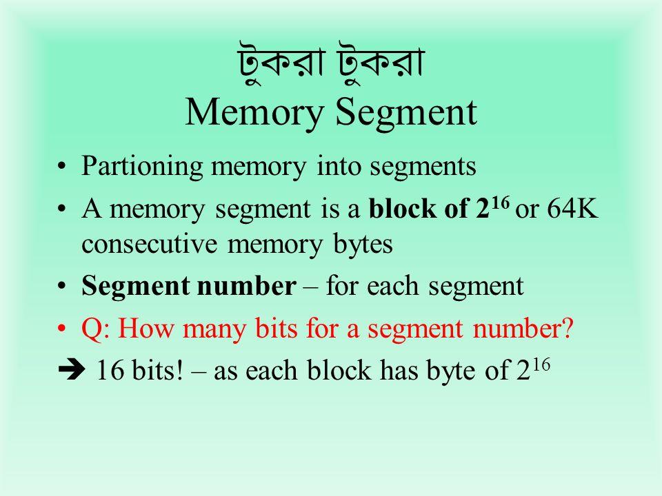 টুকরা টুকরা Memory Segment