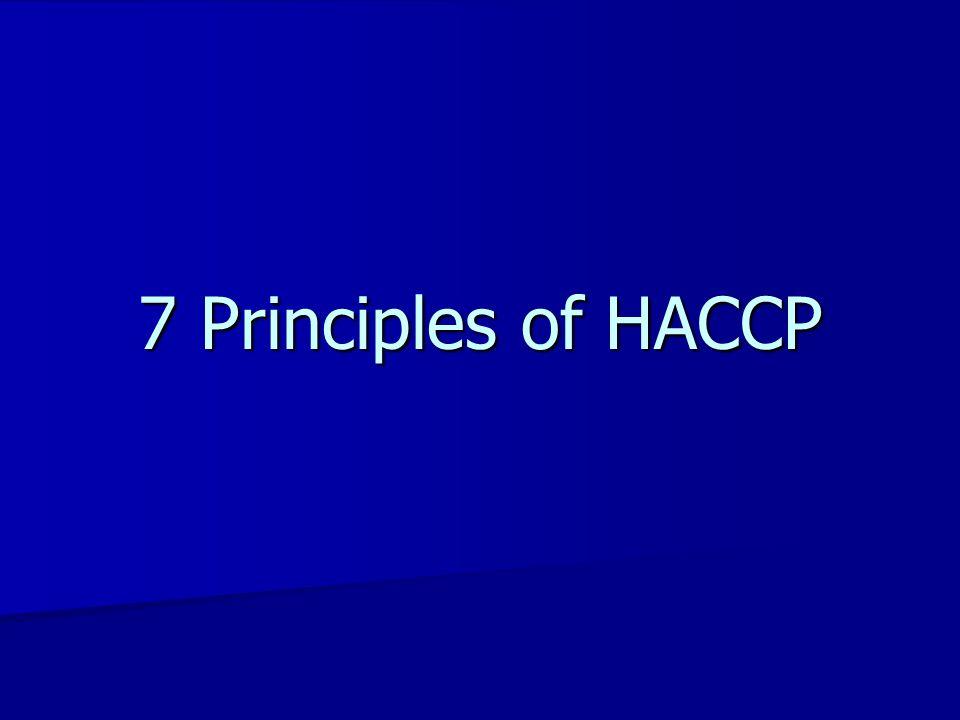 7 Principles of HACCP