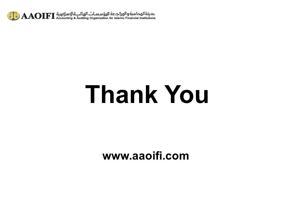 Thank You www.aaoifi.com