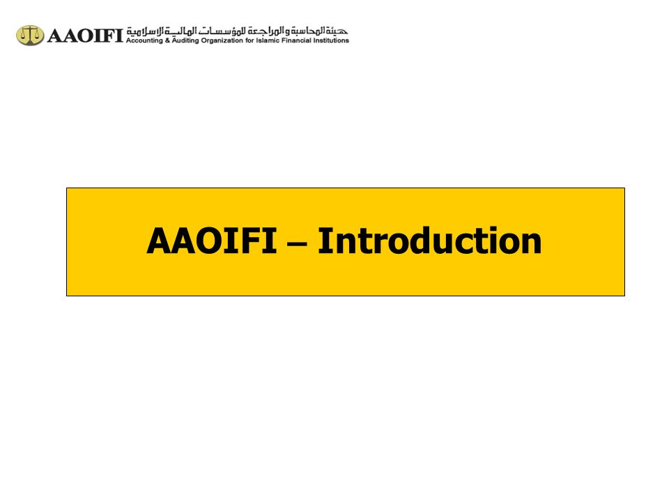 AAOIFI – Introduction