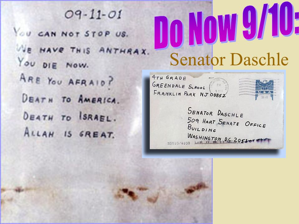Do Now 9/10: Senator Daschle