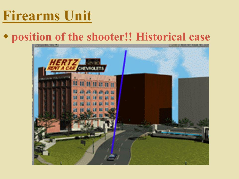Firearms Unit position of the shooter!! Historical case