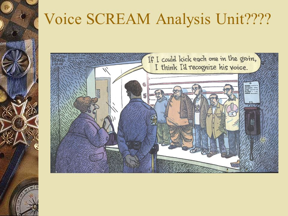 Voice SCREAM Analysis Unit