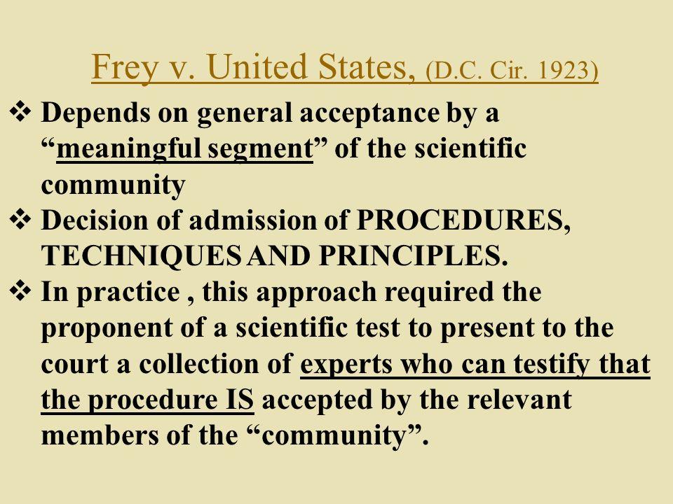 Frey v. United States, (D.C. Cir. 1923)