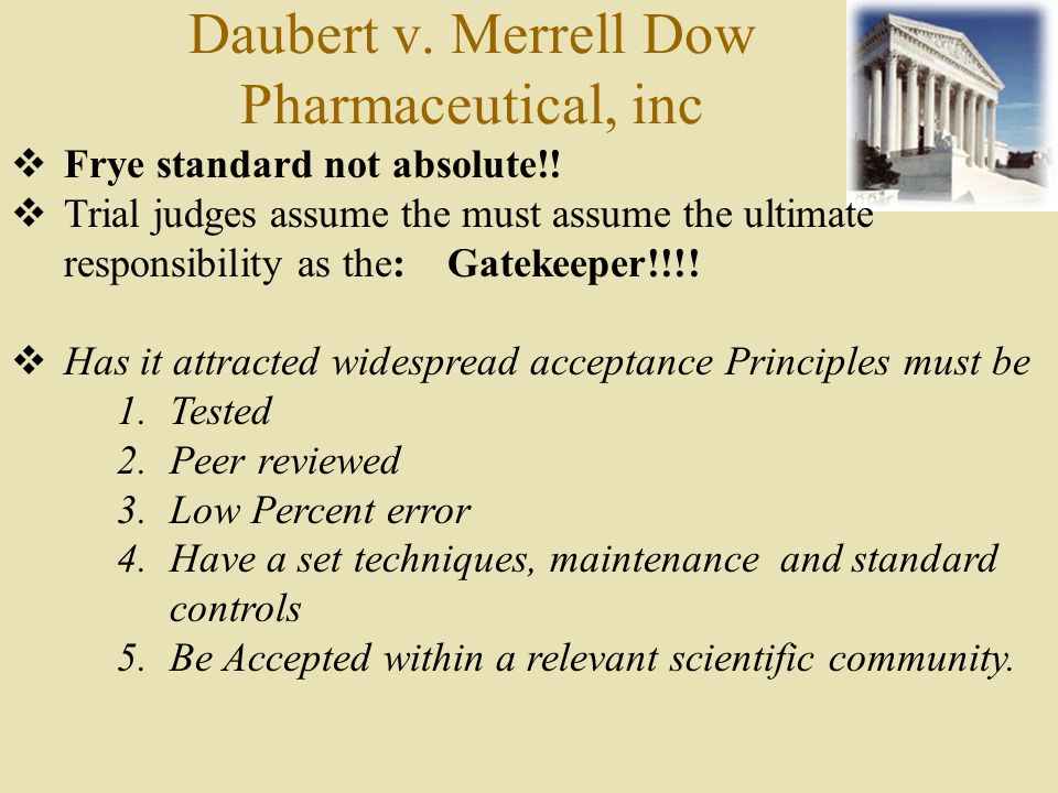 Daubert v. Merrell Dow Pharmaceutical, inc