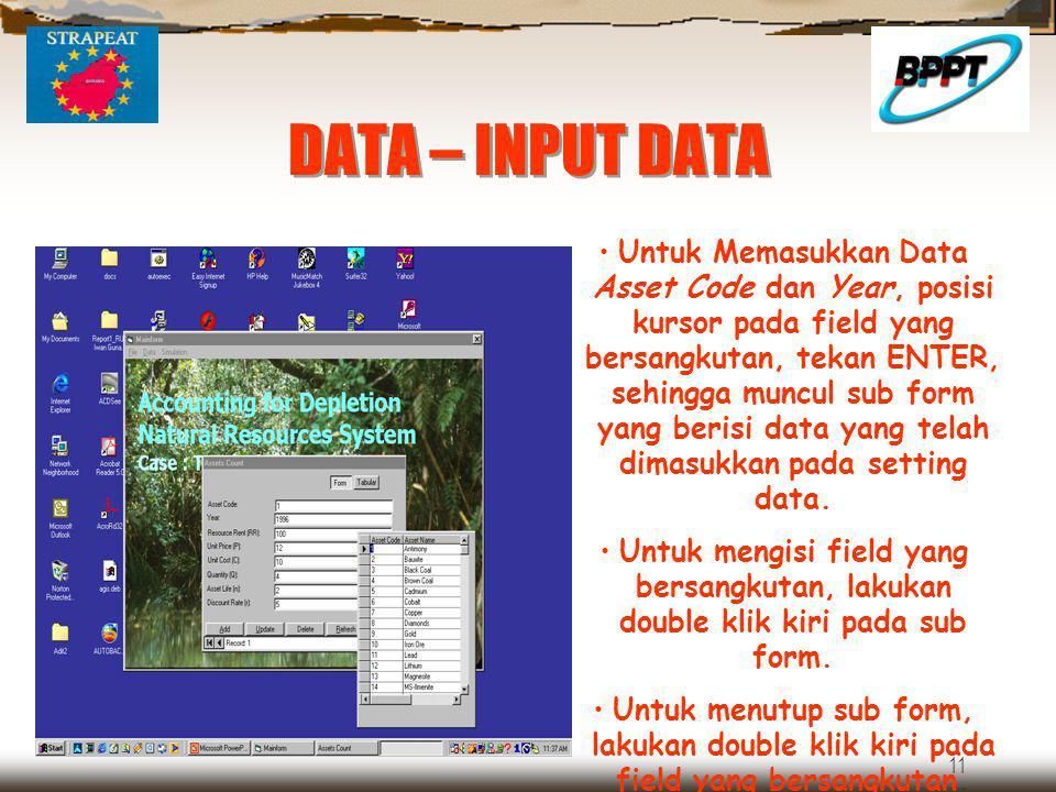 DATA – INPUT DATA