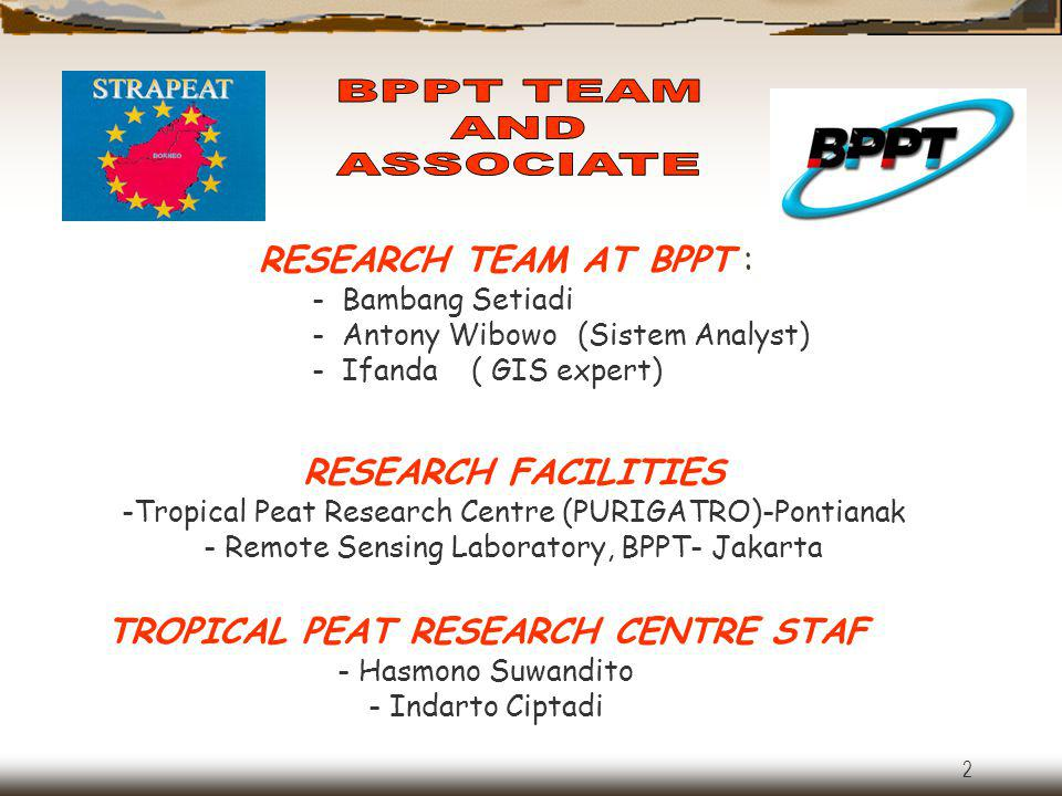 TROPICAL PEAT RESEARCH CENTRE STAF