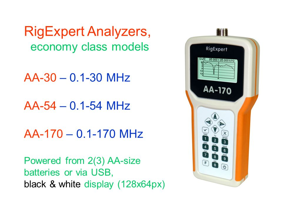 RigExpert Analyzers, economy class models