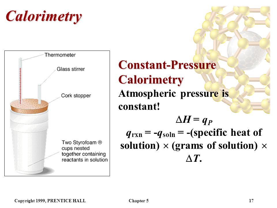 Calorimetry Constant-Pressure Calorimetry